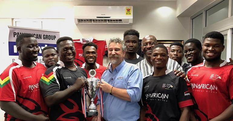 Panafrican/Komatsu Commits To Rugby Development in Ghana