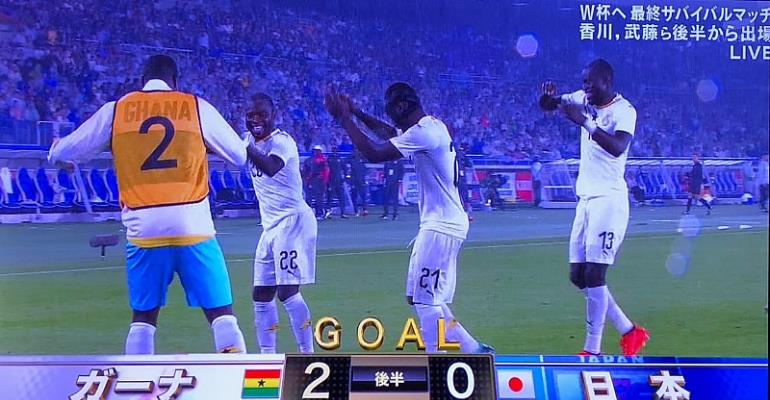 Ghana defeat World Cup-bound Japan 2-0