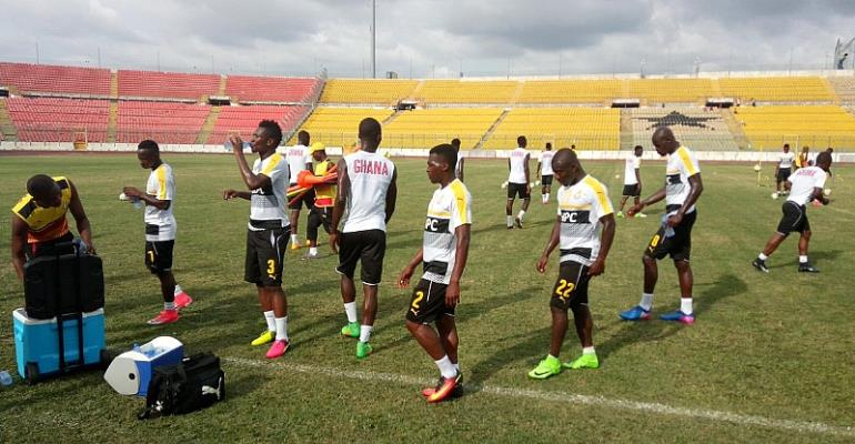 AFCON 2019 qualifier: Black Stars train with 25 players in Kumasi on Tuesday