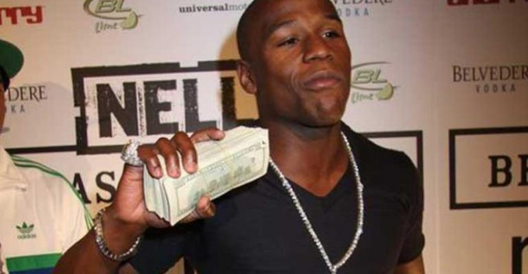 Mayweather is the world's Highest-paid athlete (ahead of Messi and Ronaldo)