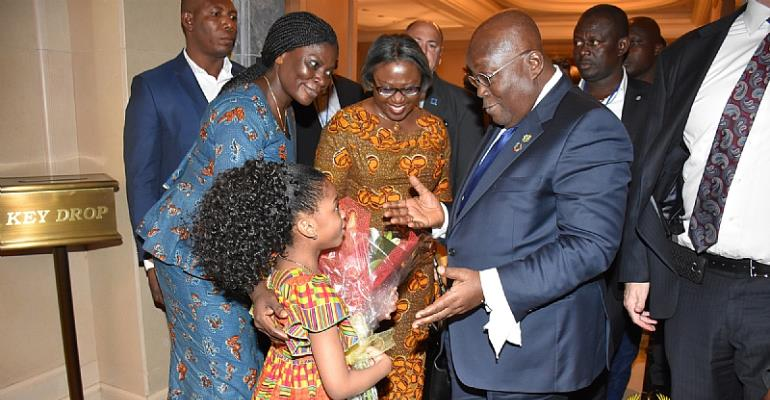 President Akufo Addo In New York For Oceans Conference
