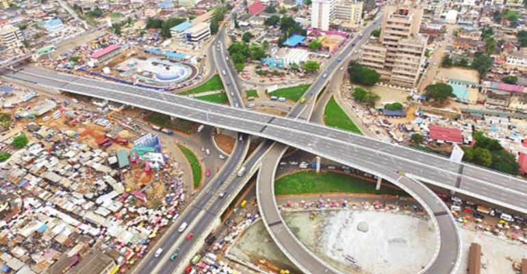 Arial view of Kwame Nkrumah Circle