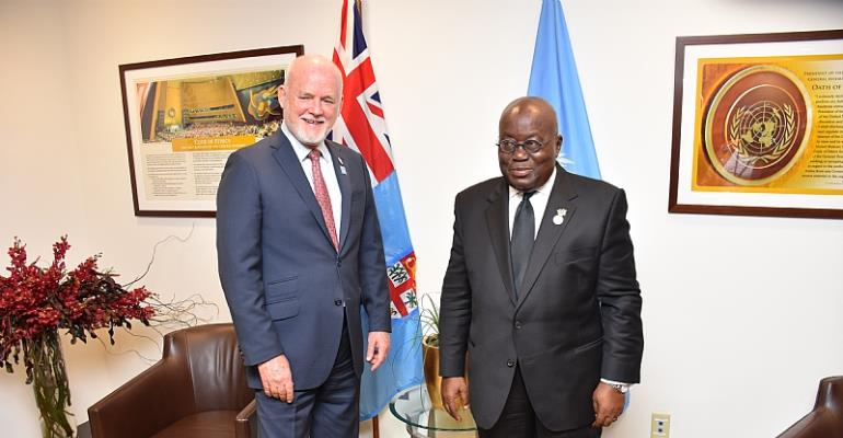 President Akufo Addo Confers With President UN General Assembly