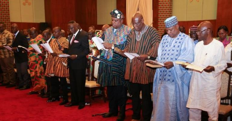 Akufo-Addo Swears In Development Authority, Zongo Development Fund Boards