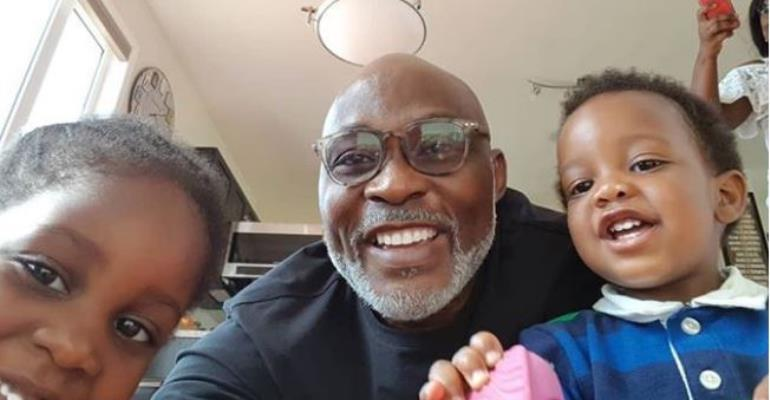 Actor, RMD Expresses Joy Having his Grandchildren around him