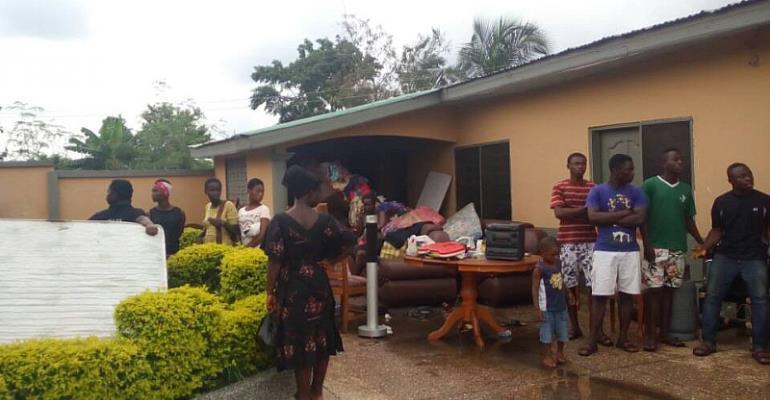 Nana Kwasi's gutted house