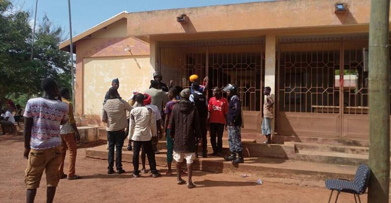 Some of the youth locking up the  Savelugu assembly