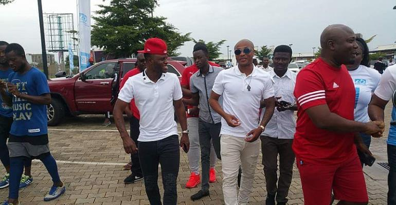 Andre Ayew, uniBank hold football clinic for over 200 kids in Nungua today