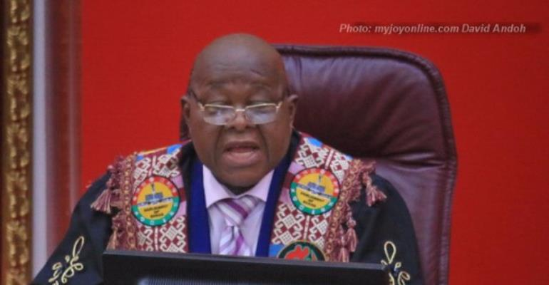 Shun acts of stealing, dishonesty - Speaker entreats Ghanaians