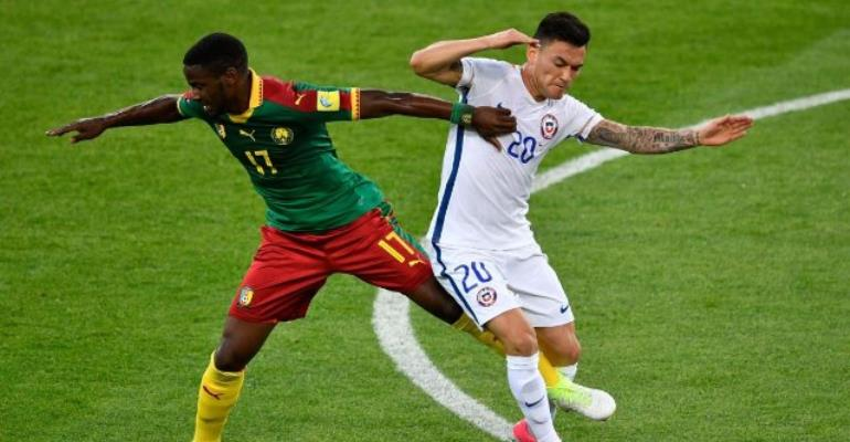 Vidal and Vargas score as Chile overcome Cameroon despite video referee mayhem