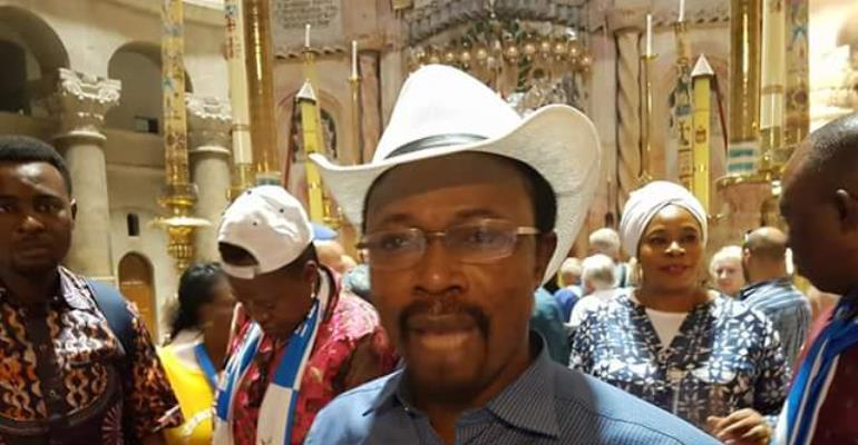 Abuja Pastor, Joshua Iginla Visits Burial Site of Jesus Christ in Isreal (photos)