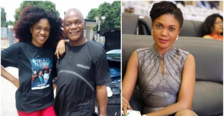 Actress, Omoni Oboli Buries Dad Amidst Tears