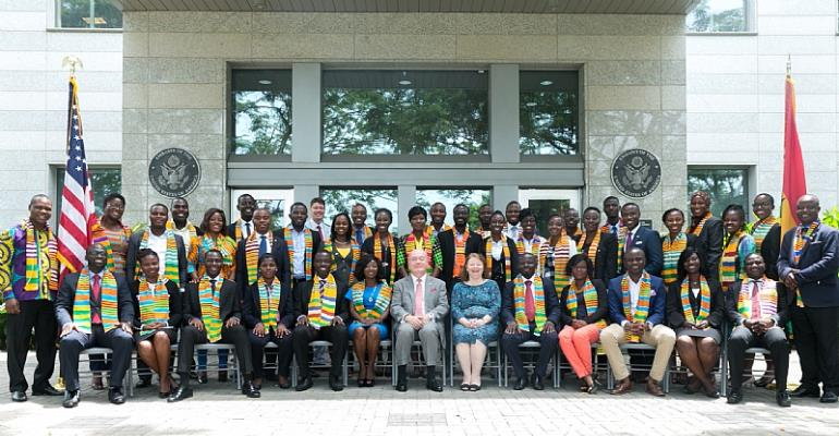 Ghana's Mandela Washington Fellows Depart for the United States