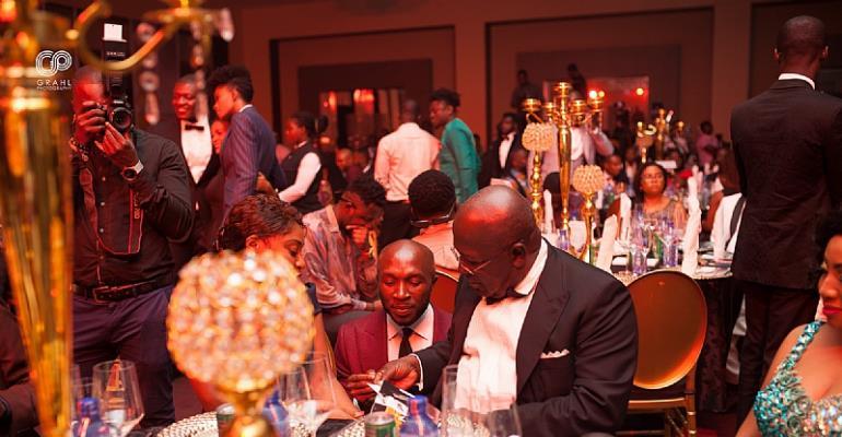 Sir Sam Jonah interacting with Kwaku Boateng Akuoko, CEO of Brommon Bespoke
