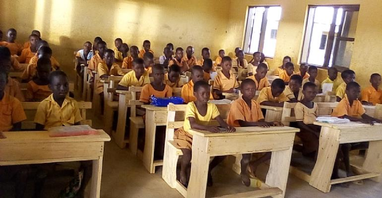 Smiles On The Face Of Guo D/A Primary School As Lack Of Furniture Is Now A Thing Of The Past.