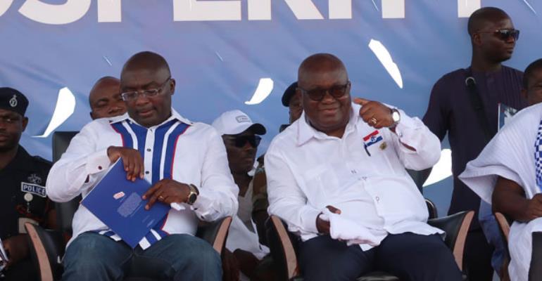 President Nana Akufo-Addo (right) and Vice President Dr Mahamudu Bawumia
