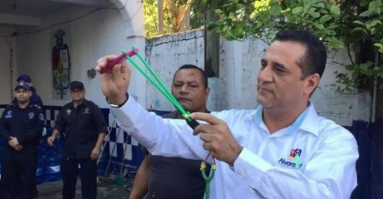 Mexican Police Department Gets Armed With Slingshots Instead Of Firearms