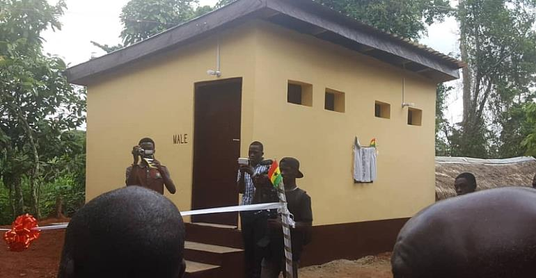 Assin North MP Commissions 8-Seater Toilet Facility