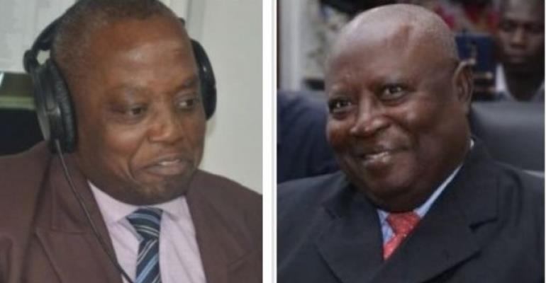 Auditor-General Daniel Domelevo on the left, Special Prosecutor Martin Amidu on the right.