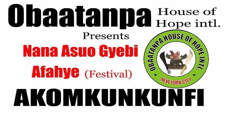 AKOM IN AMERICA?  Yes ! ( Nana Asuo Gyebi Festival ) Akomkunkunfi  In New York City