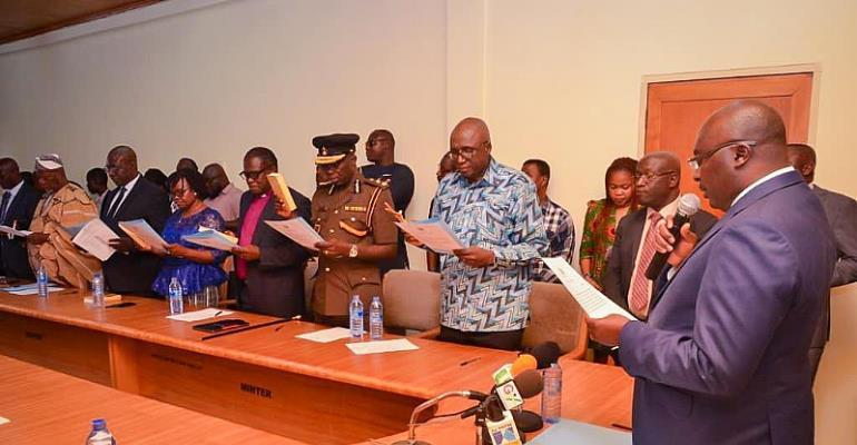 Speech Delivered By The Vice President At The Swearing In Of The Board Members Of The Ghana Prisons Service Council.