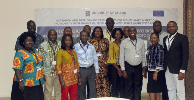 The Participants in a group photo