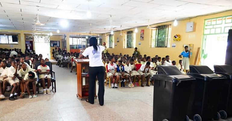 OneGhana Movement Sensitized Faith Community Baptist Complex Students On Proper Sanitation