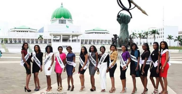 The Nigeria University Carnival Queen Contestants Hosted By Senate Presidency At NASS Complex