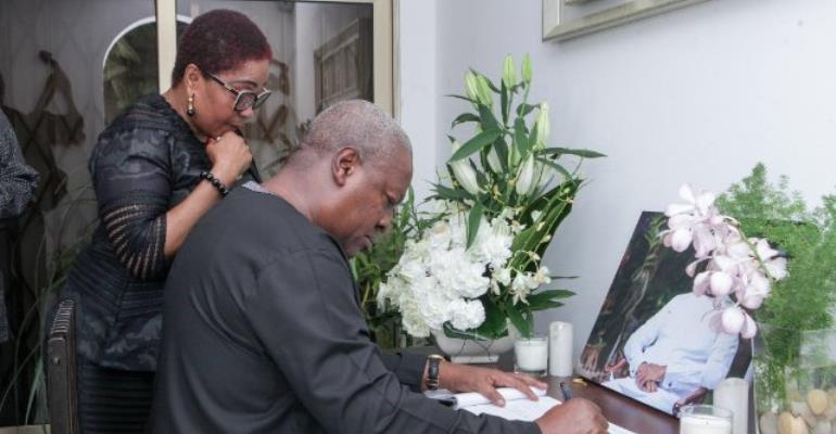 Mahama Commiserates With Amissah-Arthur Family