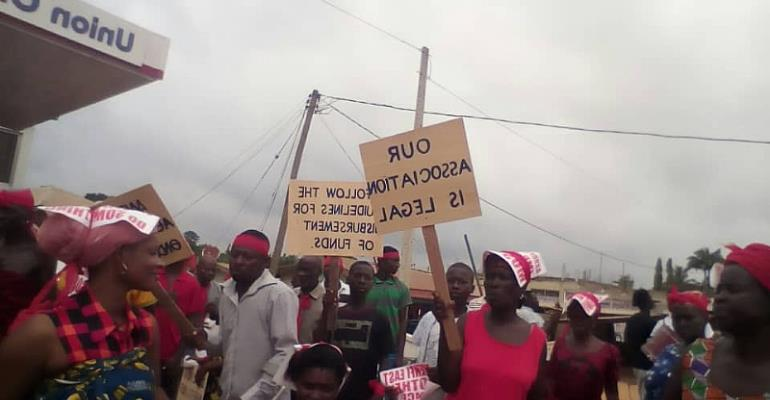 Wasa Anenfi East disabled association hits street over unpaid common fund