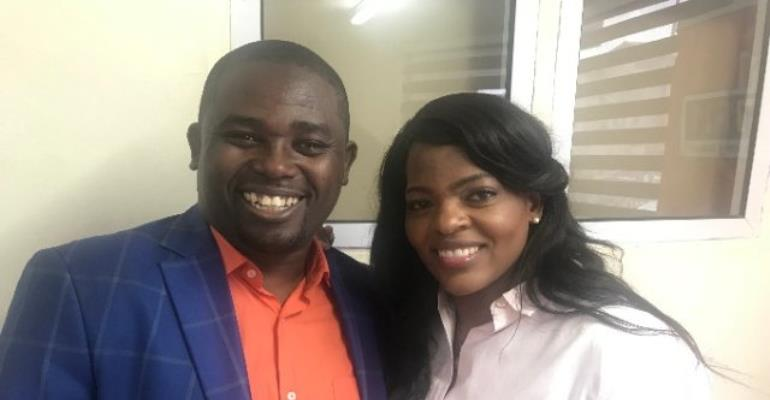 CEO Of Vodafone Ghana Surprises Joy FM's Nhyira Addo On His Birthday