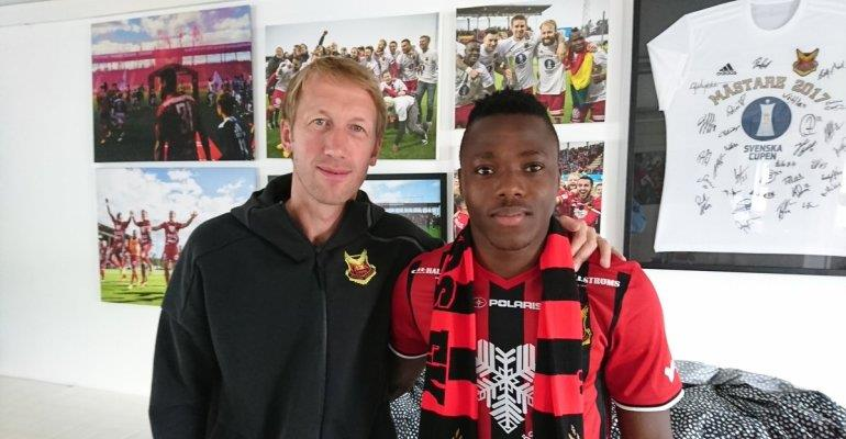Patrick Kpozo debuts for Swedish side Swedish side Ostersunds FK in league draw