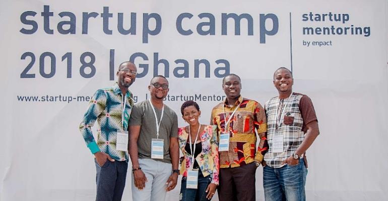 Afi Antonio Mentor Young Entrepreneurs at Enpact Bootcamp in Ghana