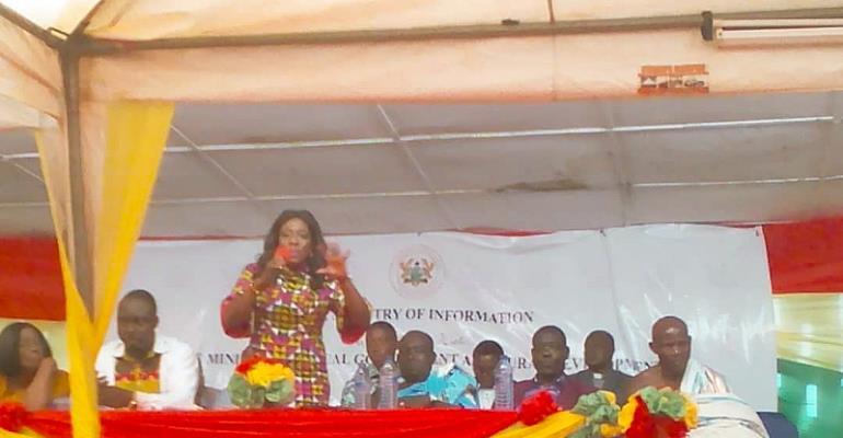 Hon. Mrs. Catherine Afeku - Min. Tourism and Creative Arts.
