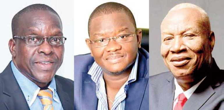 Alban Bagbin, Slyvester Mensah and  Joshua Alabi