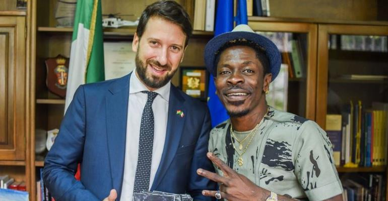 Shatta Wale Discusses Partnership With Italian Embassy