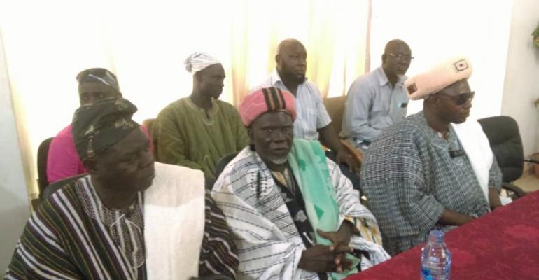 Some of the chiefs at the meeting in Tamale