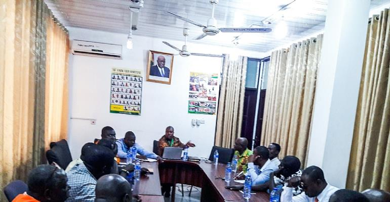 Committee members chaired by Hon. Mozart Owuh