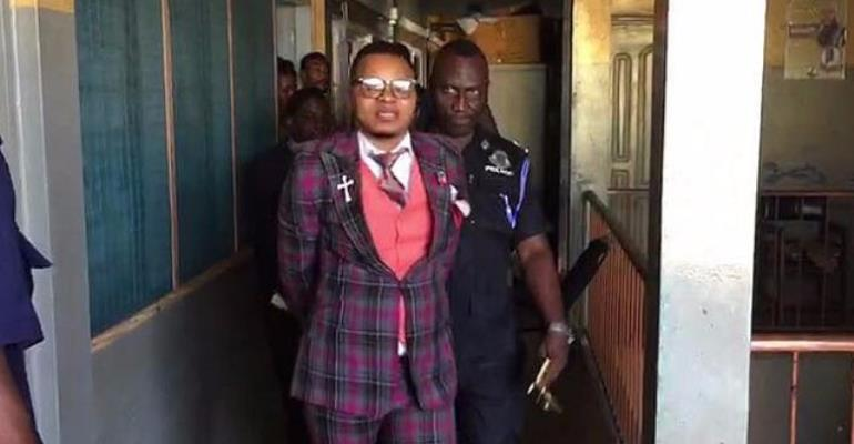 Obinim followers mass up at Nima Police Station