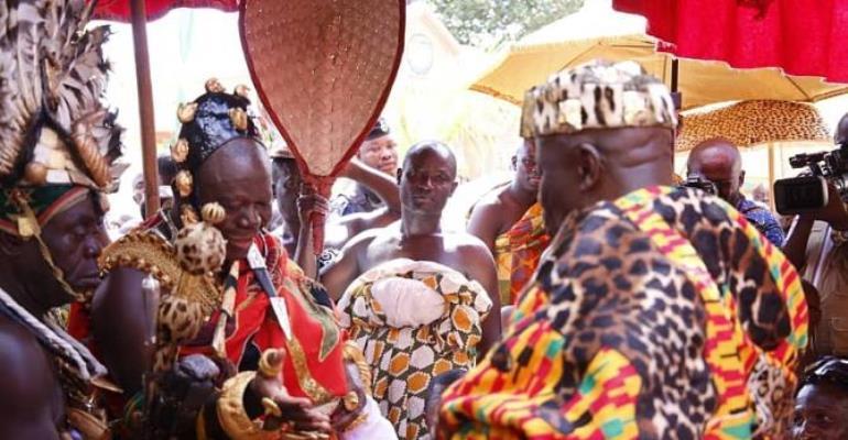 Photos: Otumfuo's Historic Visit To Okyenhene