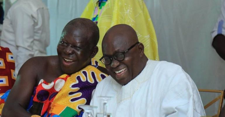 President Nana Akufo-Addo withAsantehene Otumfuo Osei Tutu