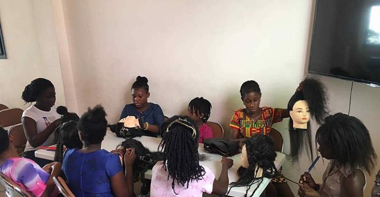 Lola Hair & Beauty College Offers School Kids Braiding & Bead Making Skills