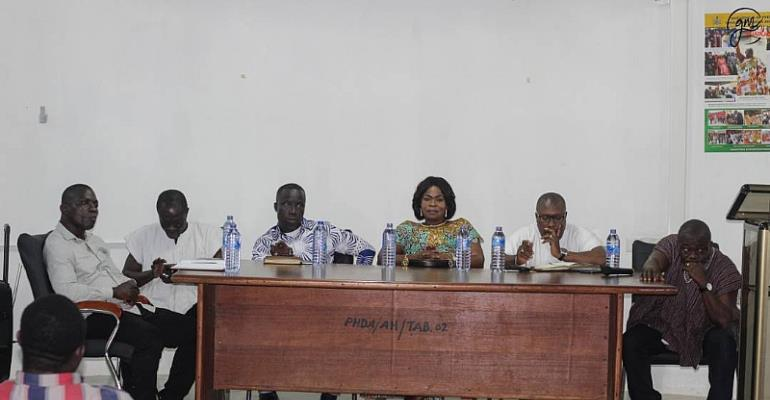 Hon. Jacqueline Asomah--Hinneh with other dignitaries.