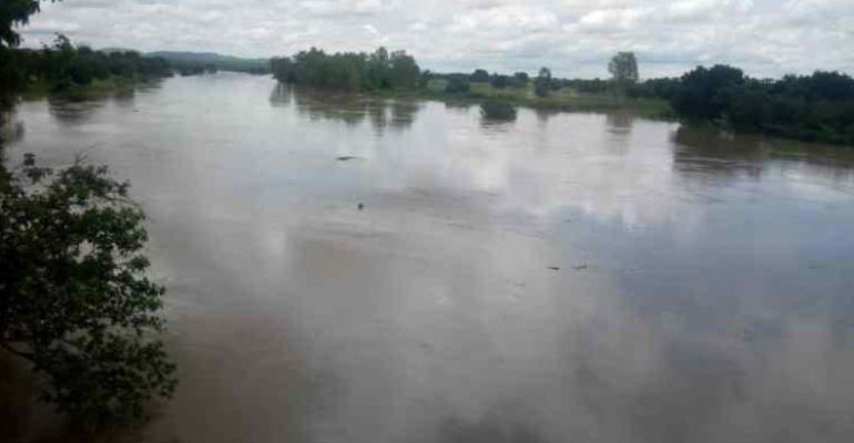A section of the flood area at Pwualugu