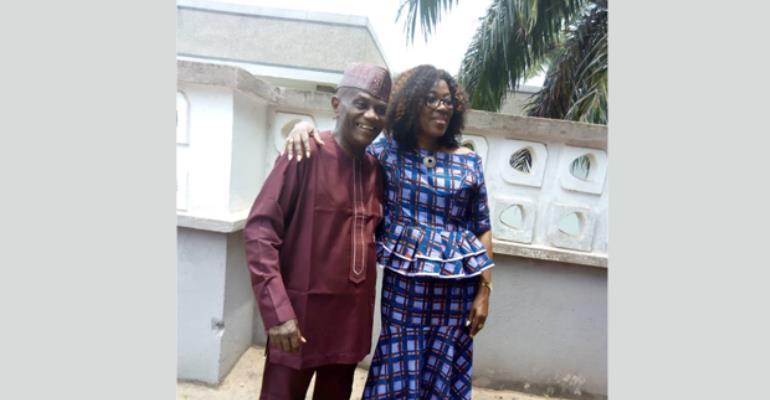 Kwadwo Gyapong and Dzifa Attivor Smiling together