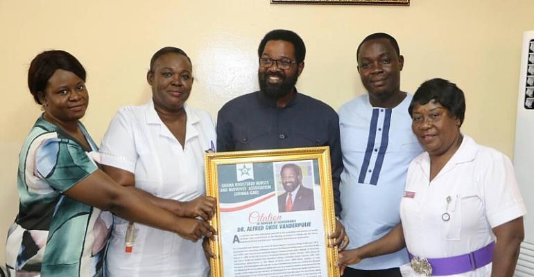 Hon. Vanderpuye Honoured By Nurses In Accra