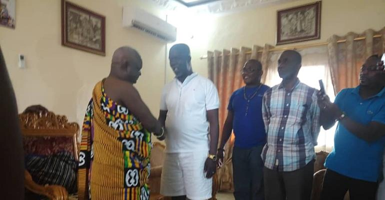 NDC leadership pays courtesy call on Sefwi Paramount Chief