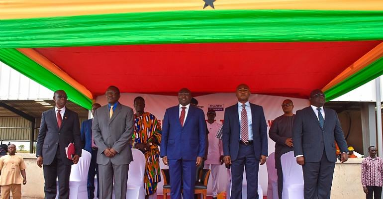 Vice President Bawumia At Commissioning Of Railway Sleeper Plant By LMI Holdings
