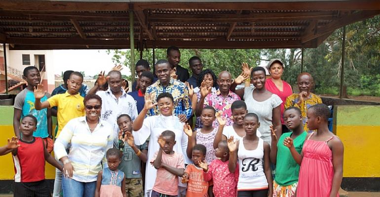 Photos: Ohemaa Mercy Celebrates 40th Birthday With Kids At ChristFaith Foster Home