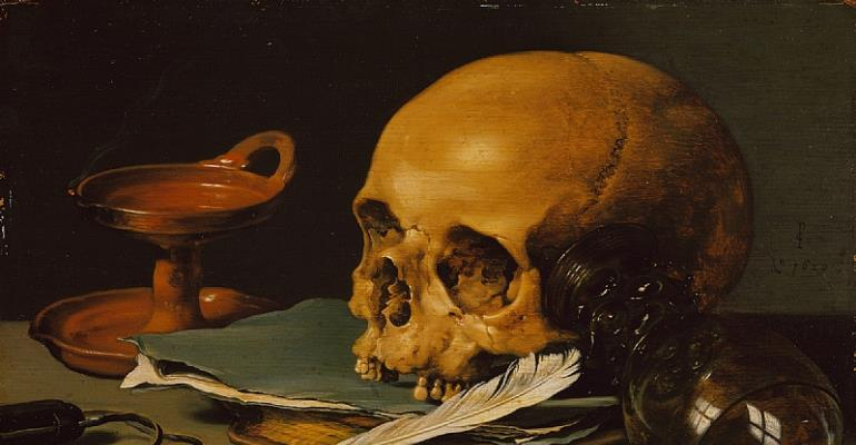 The Skull, the end after-life. Photo credit: Working Title/Artist: Still Life with a Skull and a Writing Quill Department.